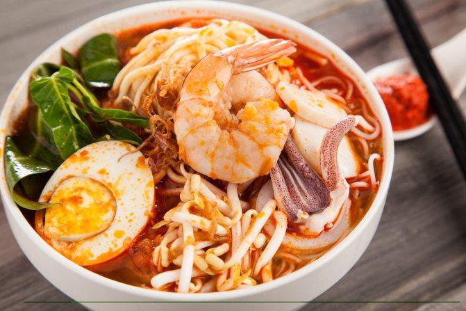 penang prawn mee soup